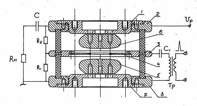 Пример конструкции разрядника